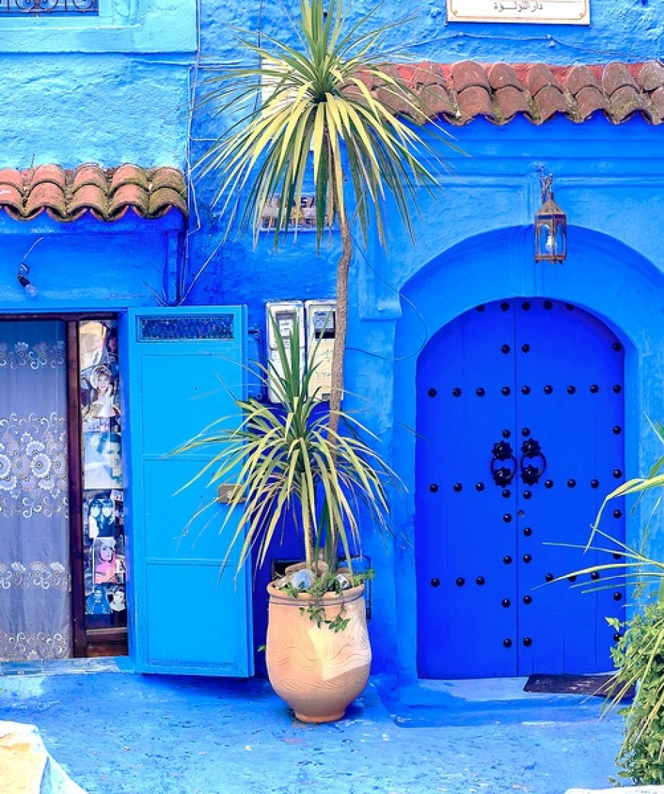 Chefchaouen, A City With Blue Painted Houses. A City With Narrow